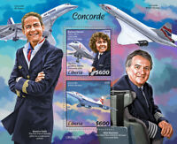 Liberia Aviation Stamps 2020 MNH Concorde British Airways Air France 2v S/S
