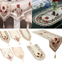 Tablecloth Dining Table Cloth Cover Wedding Home Decor Vintage Embroidered Lace