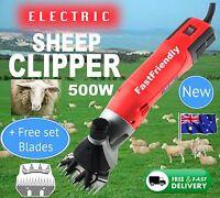 6 Speed 500W Electric Shearing Supplies Clipper Shear Sheep Goats Farm Shears +B