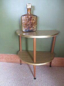 Mid century retro vintage semi circle console side telephone table,Dansette Legs