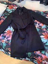 Womens New Look Black Coat Size 12