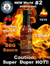 Chilli Factory Scorpion Trinidad Strike World EXTREME Hot BBQ Chili Sauce