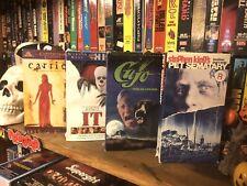 Stephen King VHS POWER PACK 4-Tape Set #1 (Carrie, Cujo, etc.)