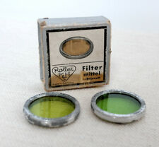 Vintage ROLLEI ROLLEIFILTER Green Grun Filters for Rolleiflex Rolliecord models
