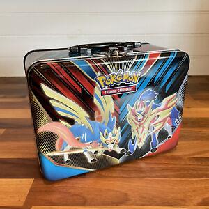 Pokemon EMPTY Collectors Chest Tin Metal Lunch Box Zacian Zamazenta Sword Shield