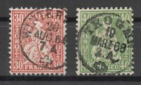 X677/ SWITZERLAND – MI # 25 / 26 USED – CV 110 $
