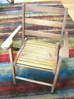 Paris Manufacturing Co Childs Wood Wooden Folding Chair   046   21  x 16  x 16