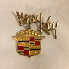 Vintage Rare Mary Kay WE WON A PINK CADILLAC Car Charm Award Cosmetics 1974 pin