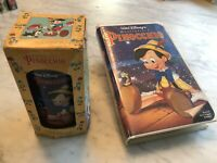 WALT DISNEY Pinocchio (VHS, 1993) Masterpiece Collection With Collector Glass!!!