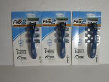3 x Bic Flex 2 Hybrid -- 3 Razors = 9 Blades