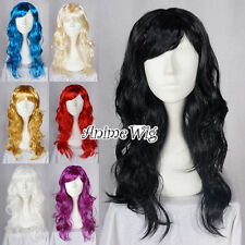 Fashion 60CM Long Curly Hair Women Fancy Style Anime Halloween Party Wig Gifts