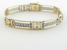 "14K Gold Men's Bracelet Yellow And White  8""  31.00 grams"