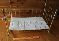 American Girl Doll Bitty Baby Crib Brass colored Metal wire Bed Antique style