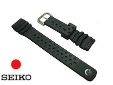 SEIKO Genuine 20mm RUBBER silicone Black Band Strap watch diver srp307 DB70BP
