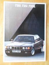 BMW 7 SERIES 1988 1989 UK Mkt Prestige Brochure Prospekt - 730i 735i 735iL E32