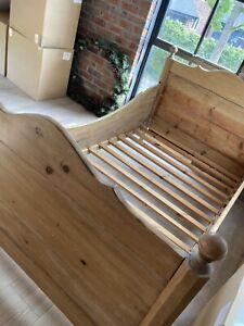 Antique Pine Sleigh Bed