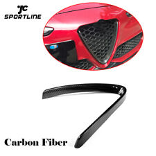 Carbon Fiber Front Grill Mesh Frame Cover For Alfa Romeo Giulia Base Sedan 15-18