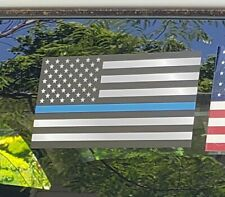 """Police American Flag Thin Blue Line DECAL STICKER Blue Lives Matter 3"""" x 5.5"""""""