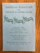 American Furniture Tiffany & Other Glass Parke Bernet Auction Catalog May 1969