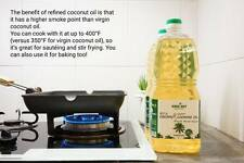 Coconut Cooking Oil 2L 100% Natural Product without Coconut Scent