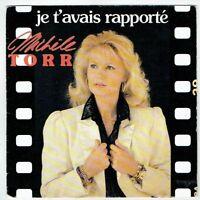 """Michèle TORR Vinyle 45T 7"""" JE T'AVAIS RAPPORTE -.. LOVE -ZONE MUSIC 1742617 RARE"""