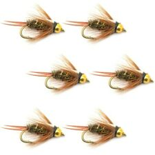 Fly Fishing Flies Prince Bead Head Nymph Fly - 6 Flies Hook Size 12 - Trout Lure
