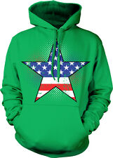 American Flag Star USA America Red White And Blue Hoodie Pullover