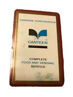 Vintage Canteen Corporation Playing Cards New Sealed Food Vending Souvenir