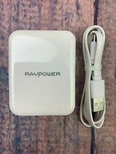 USB Fast Charger RAVPower 30W Quick Charge 3.0 Wall Dual White RPPC006