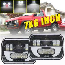 2PCS 5x7'' 7x6''inch LED Headlights Hi-Lo Beam DRL For Nissan Pickup Hardbody