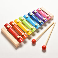 Baby Kid Educational 8 tone Xylophone Musical Toys Wooden Developmental Toy JC