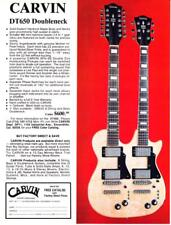 1977 Carvin DT650 Doubleneck Guitar photo vintage promo print ad