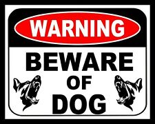 "10"" x 8"" WARNING BEWARE OF DOG - GUARD SECURITY DANGER METAL PLAQUE SIGN N222"
