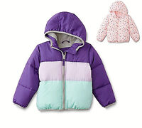 Simply Styled Girls Toddler Cold Weather Bubble Puffer Hooded jacket  3T 4T NEW