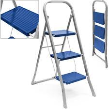 Haushaltsleiter Klapptritt 3 Stufen Stehleiter Stahl Trittleiter Leiter 150kg