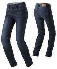 JEANS MOTO DONNA REV'IT MADISON BLU CORDURA COOLMAX PROTEZIONI KNOX TG 27 (41)