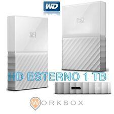 WD 1TB My Passport Hard Disk Esterno Portatile USB 3.0 Bianco WDBYFT0010BWT-WESN