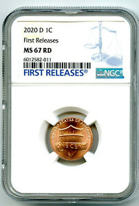 2020 D LINCOLN UNION SHIELD PENNY NGC MS67 FIRST RELEASES CENT RARE BLUE LABEL