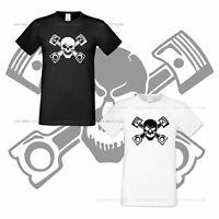 Skull Auto Cotton Tshirt Race Fan Extreme Racing Mens Shirt All Sizes S XXXL