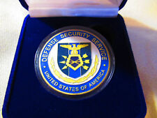 DEFENSE SECURITY SERVICE Challenge Coin w/ Presentation Box