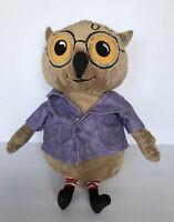 IKEA Kattuggla Plush Owl Purple Coat Jacket Glasses Stuffed Bird Soft Toy Animal