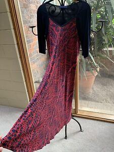 SACHA DRAKE designer stretchy maternity friendly Maxi MIDI Dress  - 12 - 14