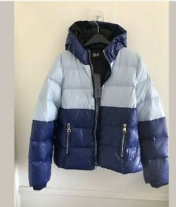 New Womens Karl Largerfield Two Tone Puffa Jacket size Uk L