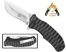 Off-Grid Knives - Rapid Fire Assisted Flipper Knife, AUS8 Blade & G10 Handle