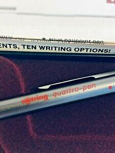 Extra Rare Vintage Rotring Quattro Pen & 0.5mm Pencil MIB Mint in Original Box!