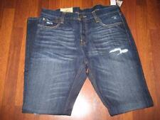 NWT Men's HOLLISTER Dark Wash Button-Up SKINNY JEANS...size 36x32