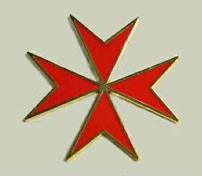 Medieval Malta Maltese Red Cross Crusade Knight Medal Badge Pin War Battle KT KC