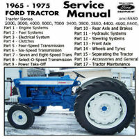 Ford Tractor 2000 3000 4000 5000  3400 3500 3550 4400 4500 5500 Workshop Manual