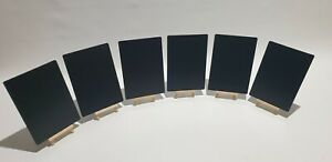 A5x6 + A6x12 TABLE TOP CHALKBOARDS+EASELS + A PACK OF 8 CLOUR LIQUID CHALK PENS