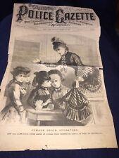 VINTAGE 1881 POLICE GAZETTE NEWSPAPER FRONT COVER FEMALES GRAIN OPERATORS